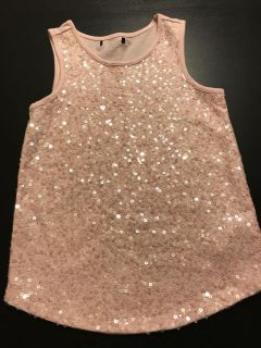 Girls sequin tank top. Size 10-11