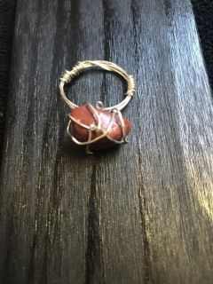 Bohemian Red Jasper Ring Size 9