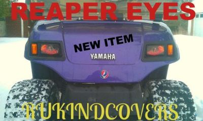 Sell YAMAHA GOLF CART REAPER Eyes ORIGINAL RuKindCover's HeadLight Covers motorcycle in Medina, Ohio, United States, for US $15.00