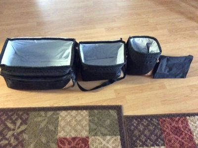 4 pc set Calvin Klein insulated soft coolers