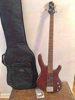 Cort Bass Guitar with Fender Gig Bag