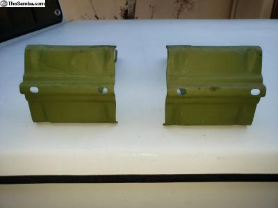 Rear pressed bumper brackets
