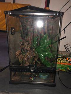 Reptile Terrarium- used 3 months.