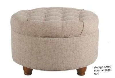 Storage tufted ottoman, delivery, new