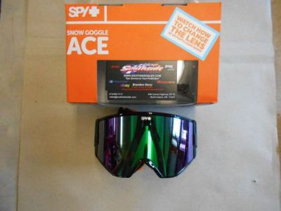 Sell Spy Ace Snowmobile Goggle Black Bronzew/GreenSpectra+YELLOW 310071038292 motorcycle in North Adams, Massachusetts, United States, for US $89.95