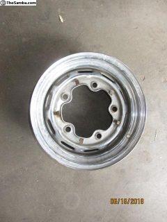 vw five lug chromed wheel J4