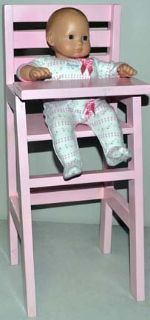 Wood Doll High Chair (Fits 18inch dolls) _ On Sale