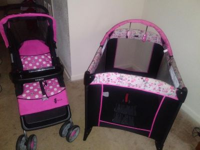 Playpin and stroller