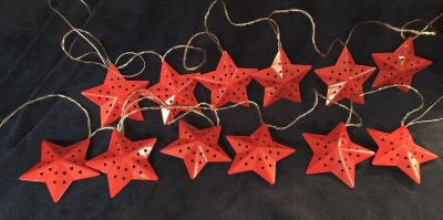 Metal Country Star Lights (Red)