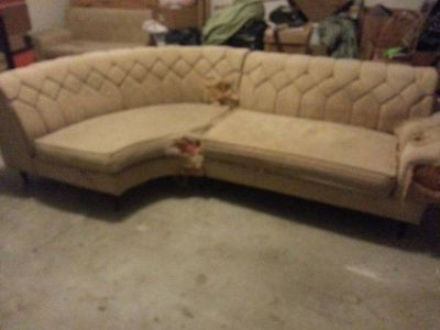 Free retro sectional sofa fixer upper (Annaville)
