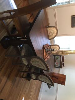 Farmhouse style Dining room table and six chairs