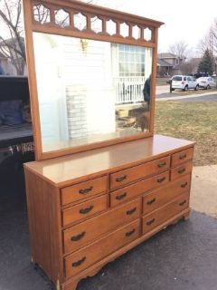 Vintage 10 drawer dresser with mirror