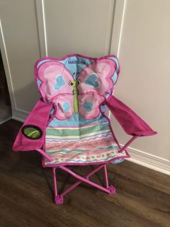 Toddler butterfly folding chair-brand new and giftable