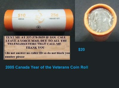 2005 Canada Year of the Veterans Coin Roll