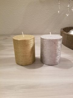 Gold & silver candles