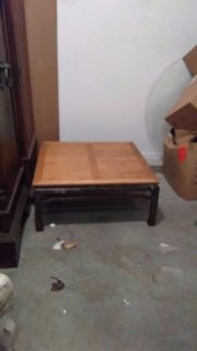 Big two toned wooden coffee table!