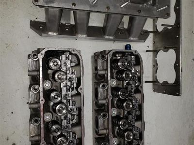 C3 Yates Ford SBF SVO heads w/valves rocker stands and sheet