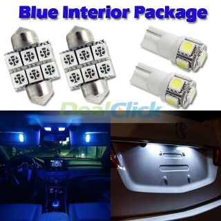 """Find 6 Blue Led Lights For Map T10+ Dome 1.25""""+ License Plate Interior Package motorcycle in Cupertino, CA, US, for US $14.89"""