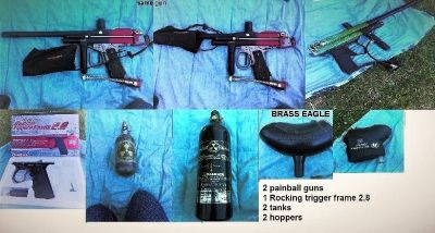 Paintball guns (2) with accessories