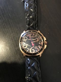 Black and Gold Betsey Johnson Watch