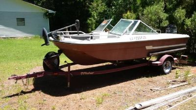 Fisher Boat Trailer (with Boat, Engine and Trolling Motor) - boats - by owner - marine sale