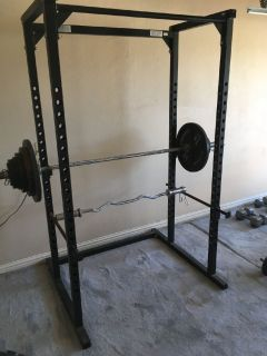 Olympic Weights and Parabody Power Rack