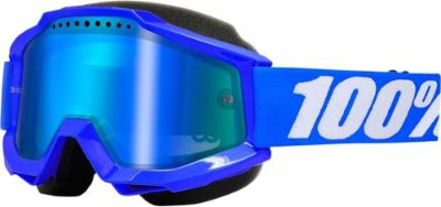 Sell 100% Accuri Snow Goggles Blue w/Mirror Blue Lens 50213-002-02 motorcycle in Lee's Summit, Missouri, United States, for US $64.95
