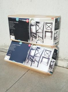 4 BRAND NEW in Box Target Home Carey Threshold Dining Chairs
