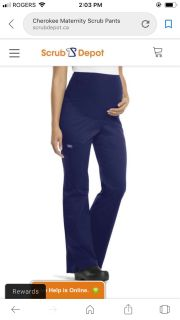 BRAND NEW Cherokee maternity scrub pants