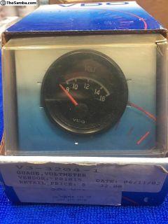 Vintage VDO volt gauge, dated 06/02