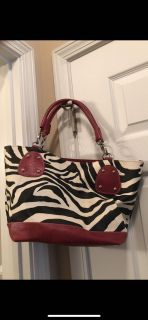 Zebra Purse w/ wallet and checkbook cover