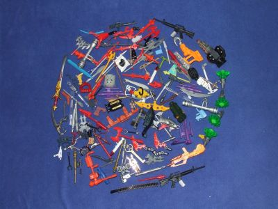Vintage Toy Action Figure Weapons & Accessory Pieces Lot