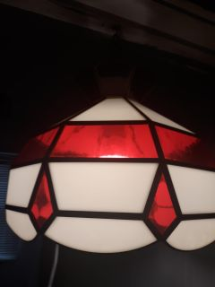 STAINED GLASS TIFFANY STYLE HANGING LIGHT