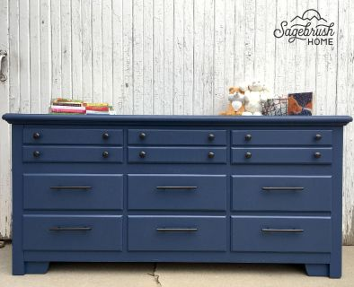 Restored 9 Drawer Dresser Great for Nursery / Changing Table