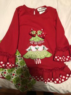 Rare Editions Christmas Outfit 4T