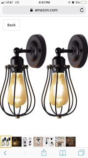 New! Wired cage lights $28