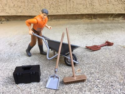 Bruder Municipal Worker and accessories