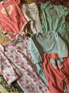Lot of 6-9 month outfits/pj's/play clothes