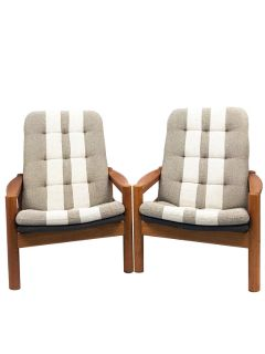 Mid Century Danish Lounge Chairs by Domino Mobler