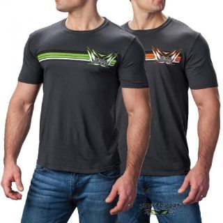 Purchase Arctic Cat Men's Team Arctic Strips T-Shirt Vintage Wash - Black Green Orange motorcycle in Sauk Centre, Minnesota, United States, for US $28.99