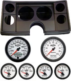 Purchase 82-88 Chevy G Body Black Dash Carrier w/ Auto Meter Phantom II Gauges motorcycle in Carson City, Nevada, United States, for US $1,339.95