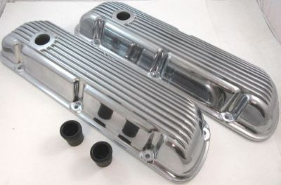 Find SB Ford SBF Finned Polished Aluminum Short Valve Covers W/ Gaskets 289 302 351W motorcycle in Chatsworth, California, United States, for US $59.99