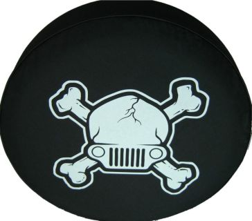 "Purchase SpareCover Brawny Series - Jeep Skull Tire Cover 32"" - 33"" Heavy DenimVinyl motorcycle in Orlando, Florida, US, for US $13.50"