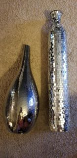 Silver beautiful vases