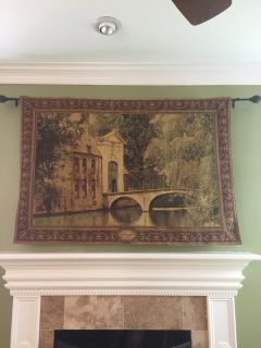 Tapestry with Wrought Iron Rod