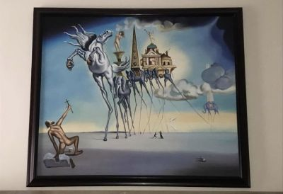 "Salvador Dali Replica Oil Painting. ""The Temptation of St. Anthony"" (1946)"