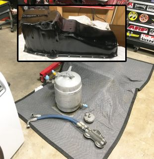 Dry sump system for small block chevy