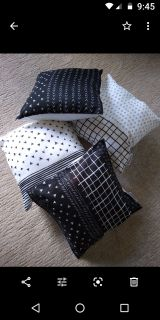 White and black pillows