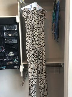 Guess leopard jumpsuit