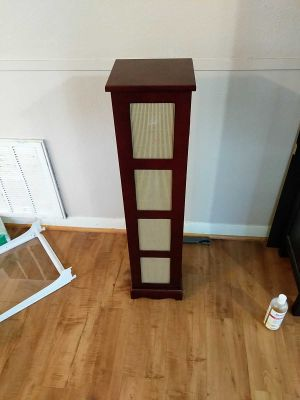 Cherry wood standing organizer